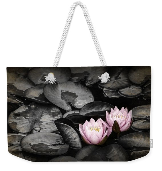 Lily Pad Blossoms Weekender Tote Bag