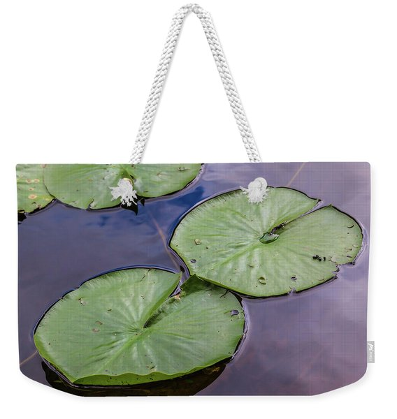 Lily Pad Reflections Weekender Tote Bag
