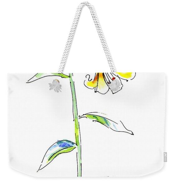 Lily Watercolor Painting 2 Weekender Tote Bag