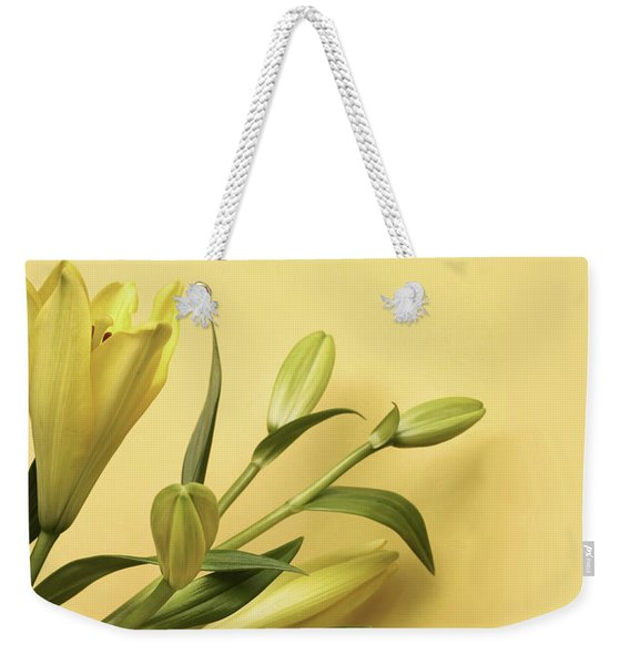 Lily Yellow Weekender Tote Bag