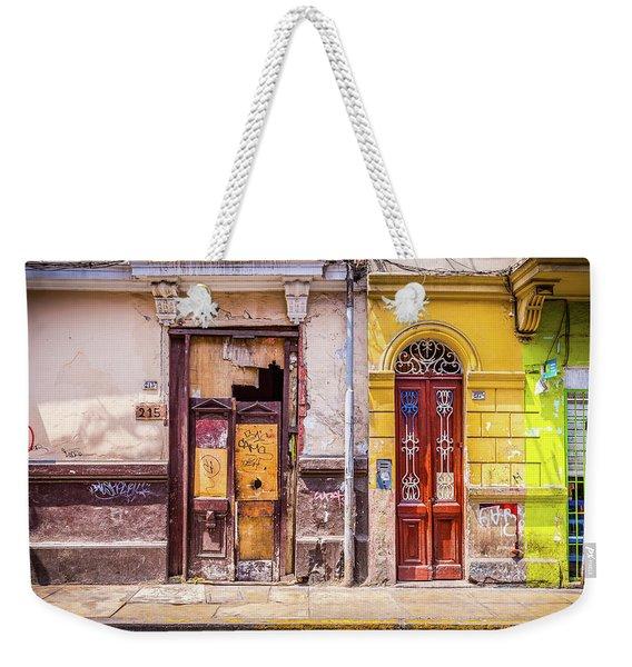Lima City Doors Weekender Tote Bag