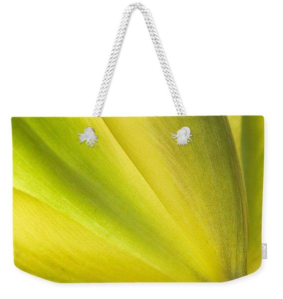 Lime Tulip Weekender Tote Bag