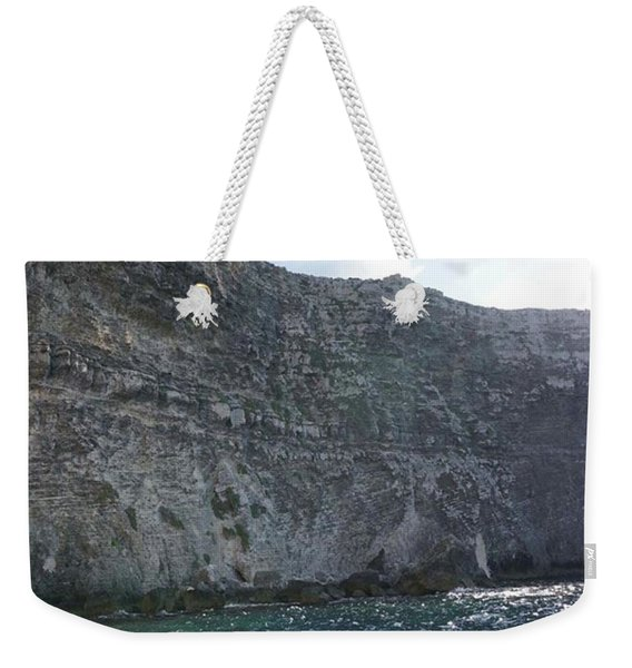 Limestone Cliffs In Gozo, Malta Weekender Tote Bag