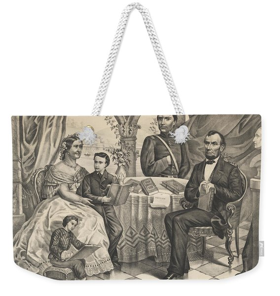 Lincoln And His Family Weekender Tote Bag