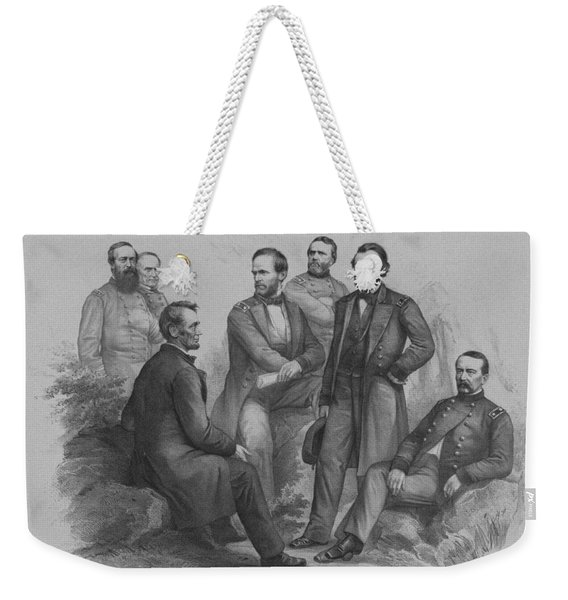 Lincoln And His Generals Weekender Tote Bag