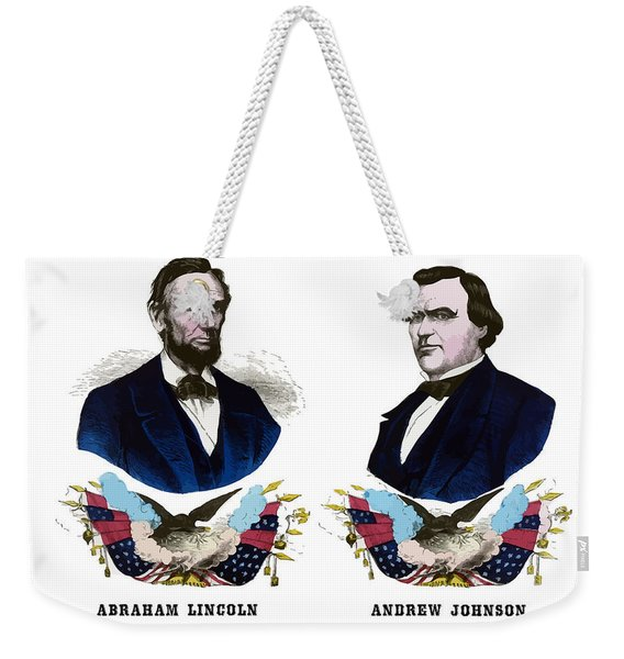Lincoln And Johnson Campaign Poster Weekender Tote Bag