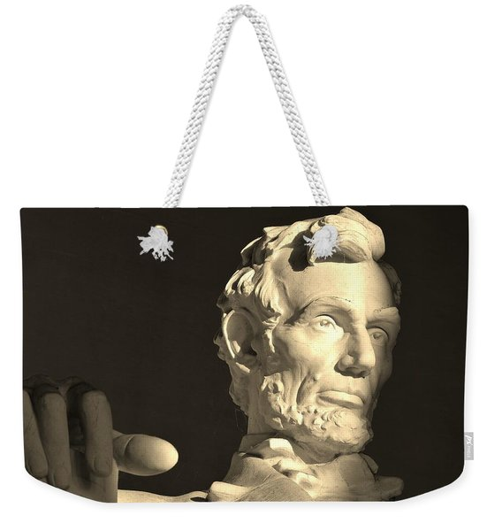 Lincoln At Sunrise Weekender Tote Bag