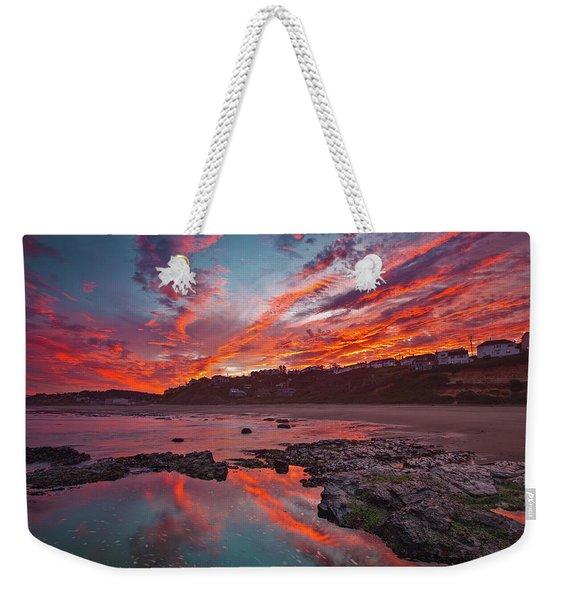 Lincoln City Sunrise Weekender Tote Bag