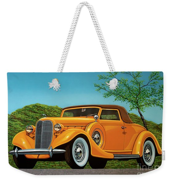 Lincoln K Convertible 1935 Painting Weekender Tote Bag