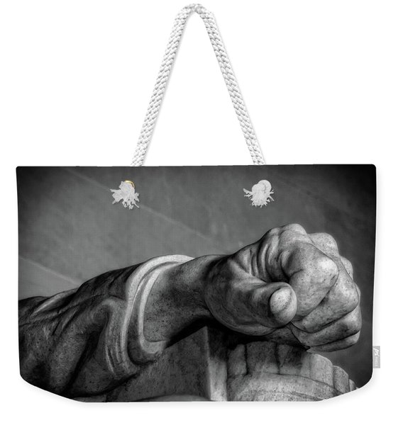 Lincoln's Left Hand B-w Weekender Tote Bag