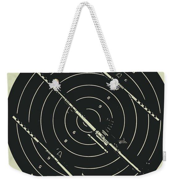Line Art Rifle Range Weekender Tote Bag