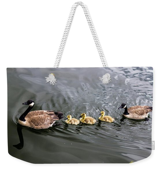 Line Astern Signed Weekender Tote Bag