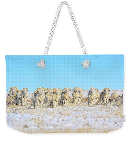 Line Em Up Rams Weekender Tote Bag