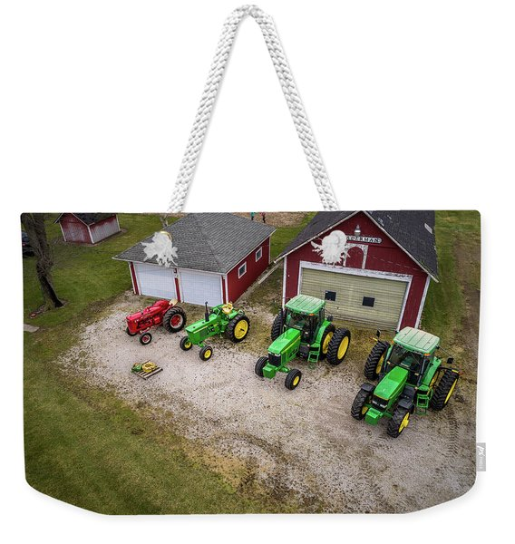 Lining Up The Tractors Weekender Tote Bag