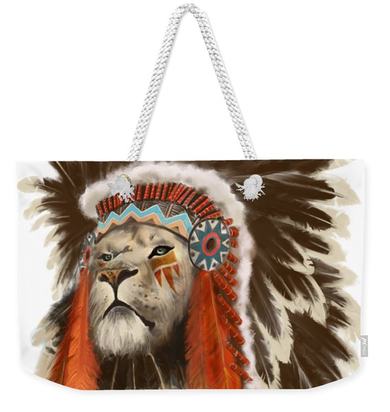 Lion Chief Weekender Tote Bag