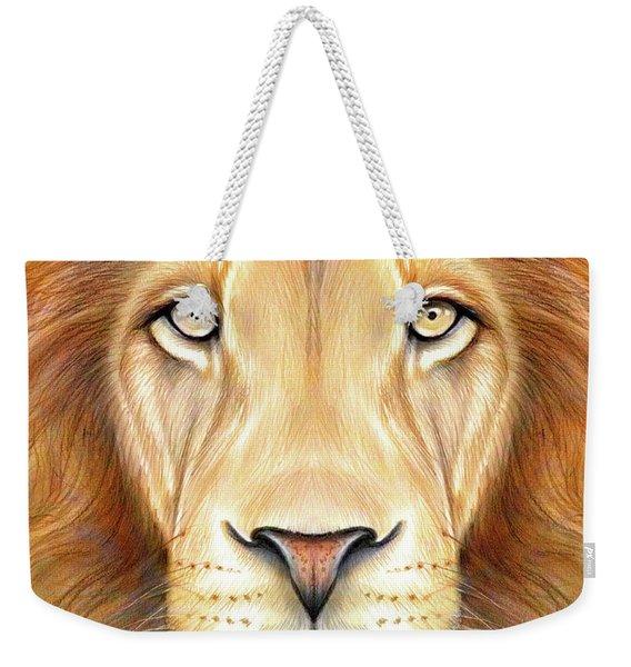Lion Head In Color Weekender Tote Bag