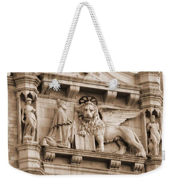 Lion Of Venice With The Doge Weekender Tote Bag