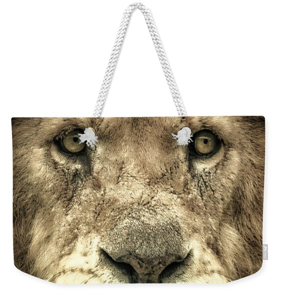 Lion Portrait Weekender Tote Bag