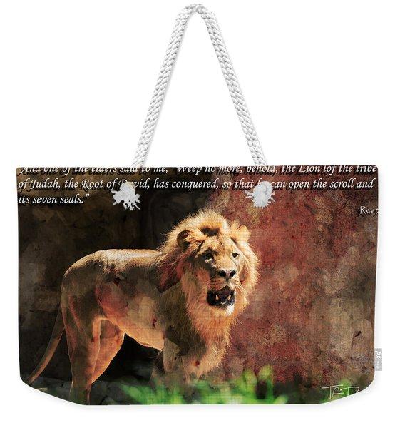 Lion Revelation 5 Weekender Tote Bag