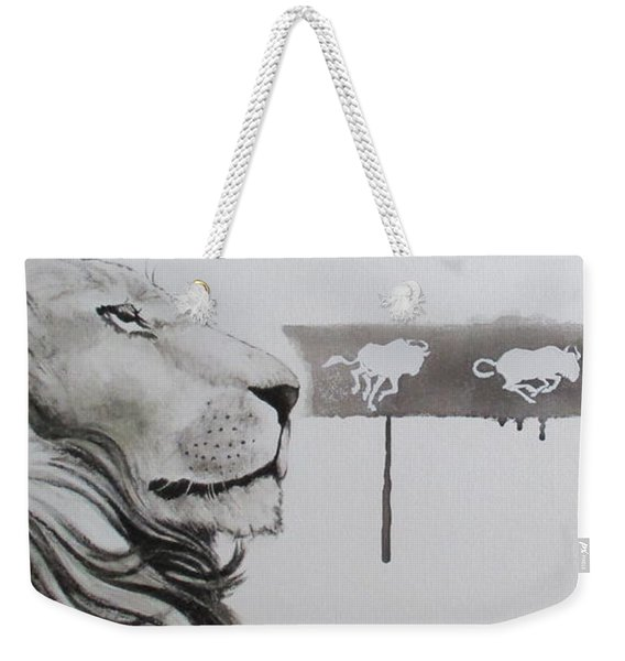 Lion Tears Weekender Tote Bag