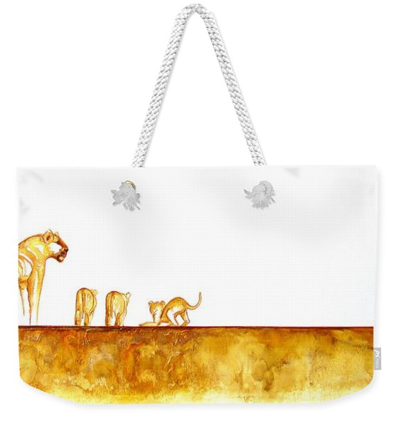 Lioness And Cubs - Original Artwork Weekender Tote Bag