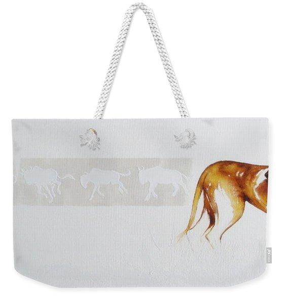Lioness And Wildebeest Weekender Tote Bag
