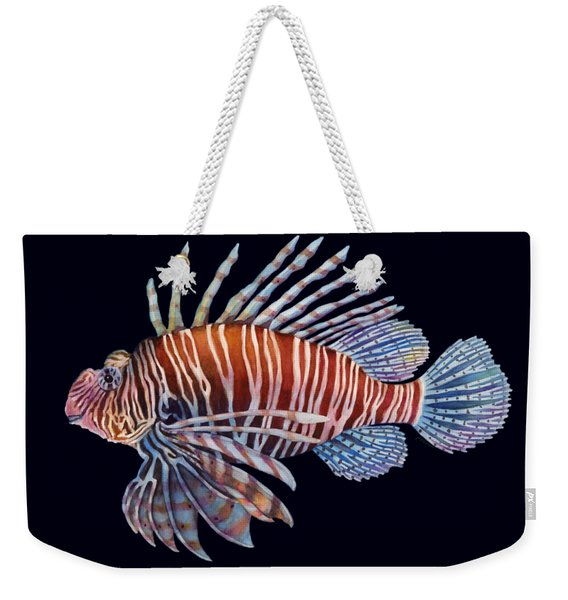 Lionfish In Black Weekender Tote Bag