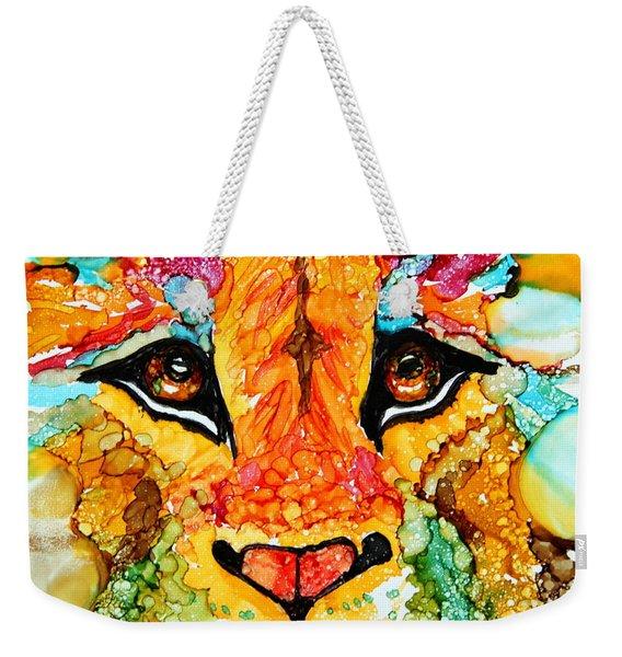 Lion's Head Gold Weekender Tote Bag