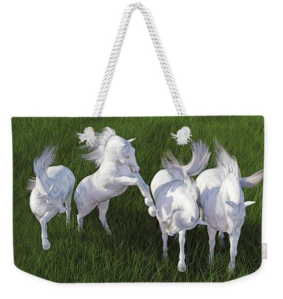 Lippizzaner Fields Weekender Tote Bag