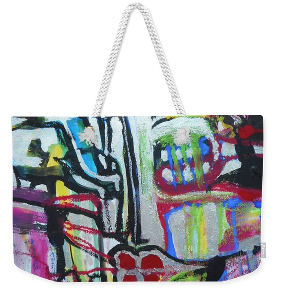 Lips Made Of Steel Weekender Tote Bag