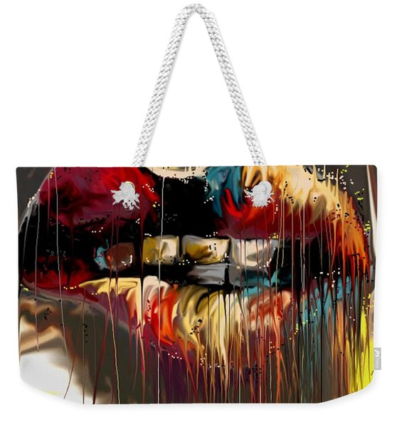 Lips Say It All Weekender Tote Bag