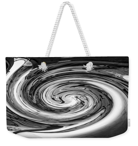 Liquefied Graffiti In Black And White Weekender Tote Bag