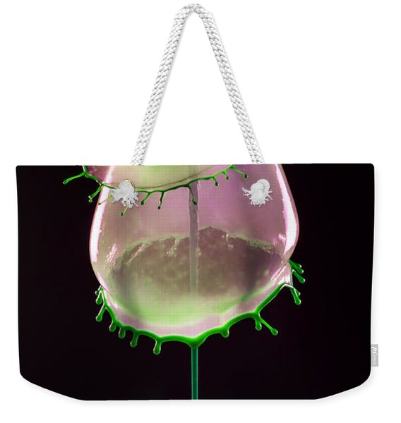 Liquid Art Impression With Bubble Weekender Tote Bag