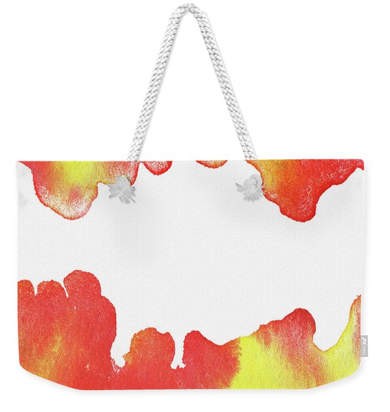 Liquid Fire Watercolor Abstract I Weekender Tote Bag