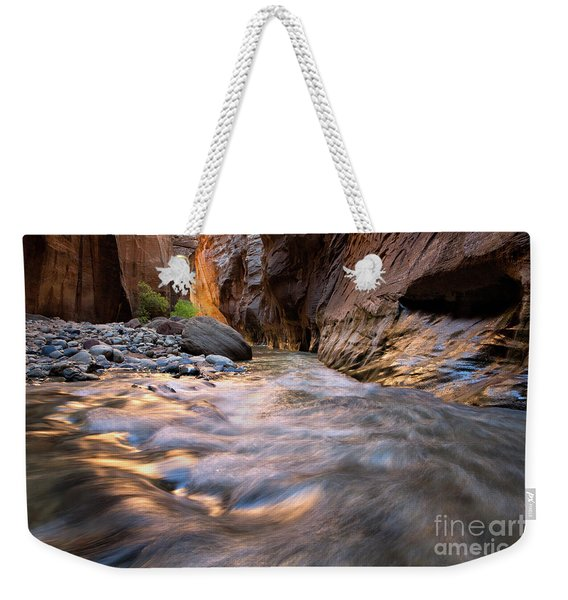 Liquid Gold Utah Adventure Landscape Photography By Kaylyn Franks Weekender Tote Bag