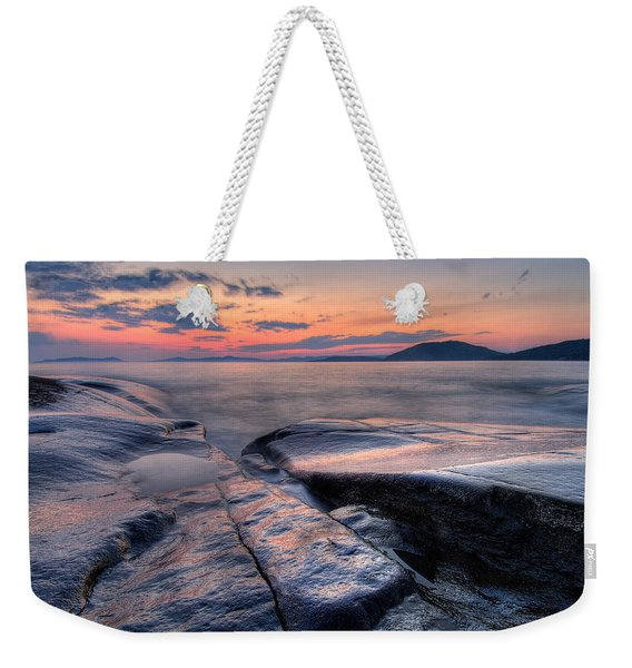 Weekender Tote Bag featuring the photograph Liquid Lagoon  by Doug Gibbons