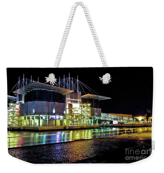 Lisbon - Portugal - Oceanarium At Night Weekender Tote Bag