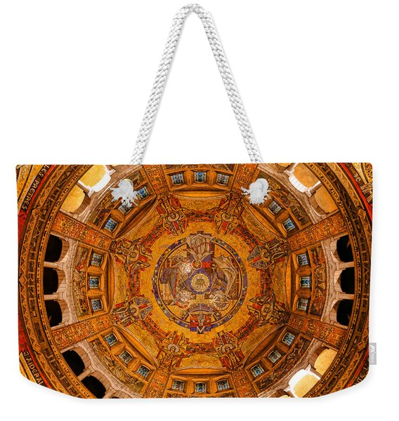 Lisieux St Therese Basilica Dome Ceiling Weekender Tote Bag