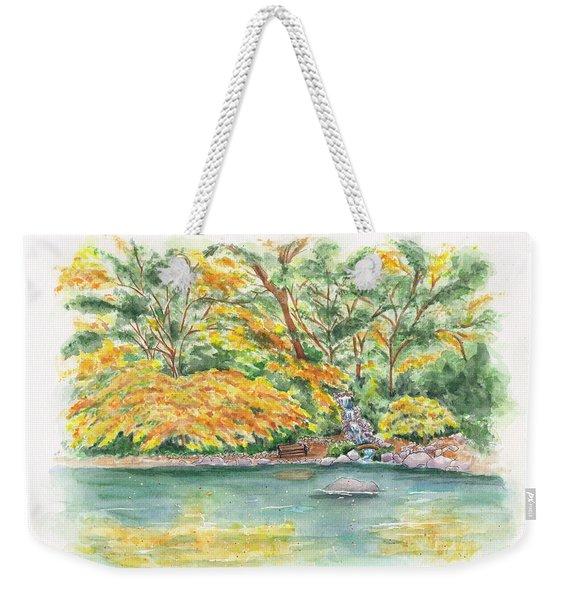 Lithia Park Reflections Weekender Tote Bag