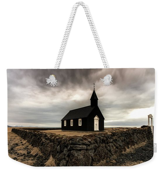 Little Black Church Weekender Tote Bag