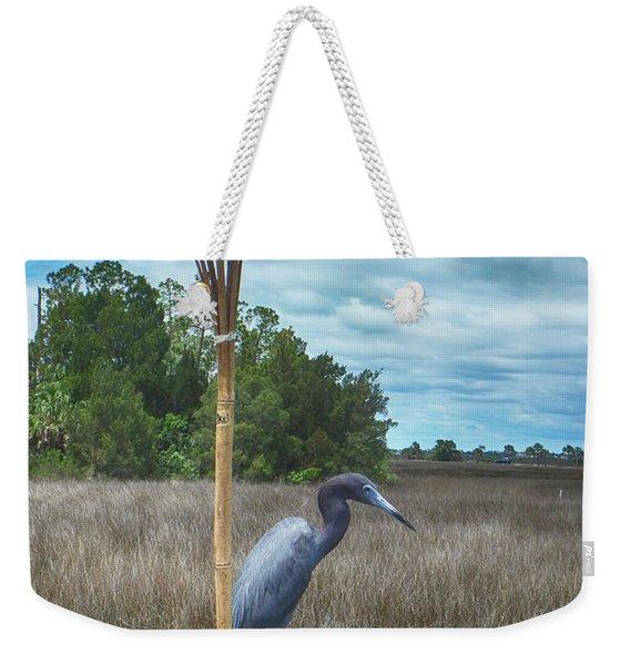 Little Blue Heron Weekender Tote Bag