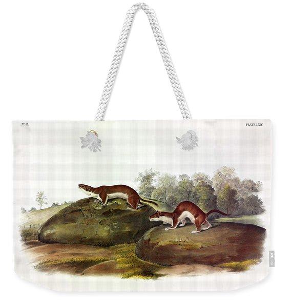 Little Brown Weasel Weekender Tote Bag