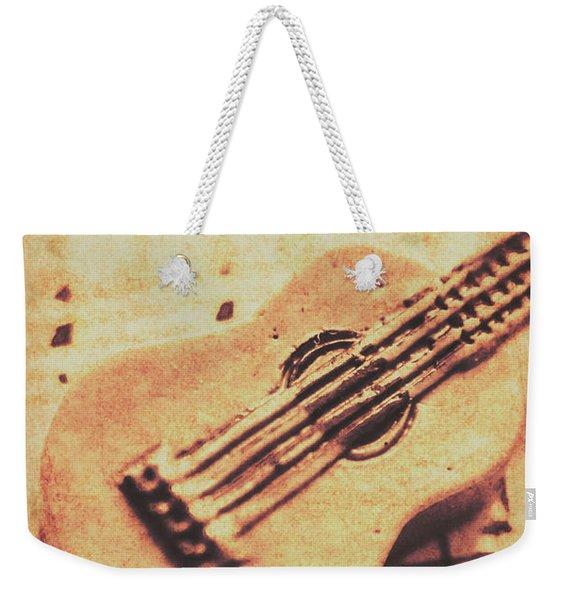 Little Carved Guitar On Sheet Music Weekender Tote Bag