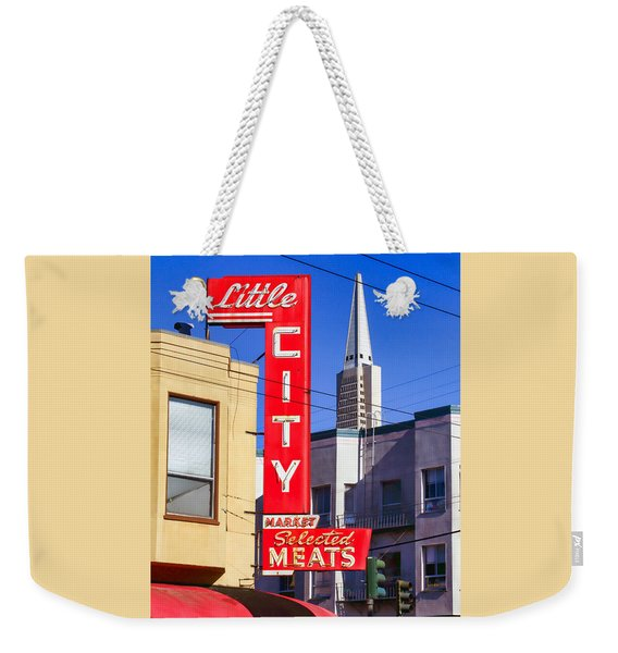 Little City Market North Beach San Francisco Weekender Tote Bag