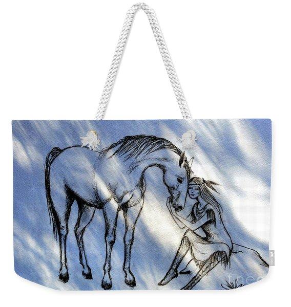 Little Deer And Wind Spirit Weekender Tote Bag