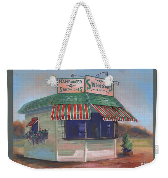 Little Drive-in On South Hawkins Ave Weekender Tote Bag