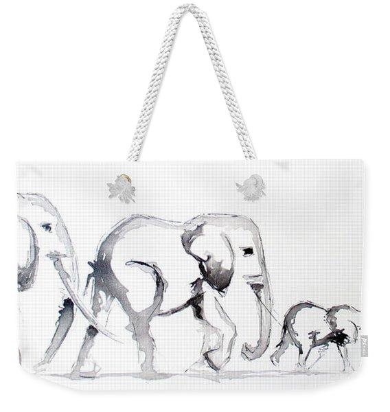 Little Elephant Family Weekender Tote Bag