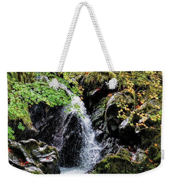 Weekender Tote Bag featuring the photograph Little Falls by Michael Hope