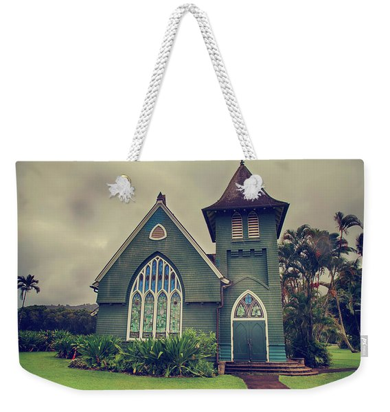 Little Green Church Weekender Tote Bag
