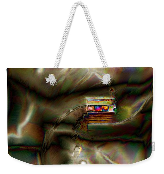 Little House On The Abstract Prairie Weekender Tote Bag